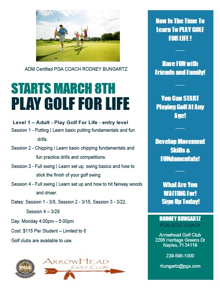 Play Golf For Life 3 8 21 banner